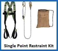 single point restraint harness kit